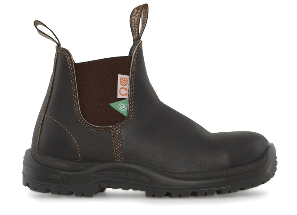 162 Csa Steel Toe Safety Boot Greenpatch In Brown